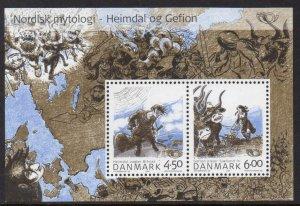 Denmark MNH S/S 1274a Norse Gods 2000 SCV 8.00