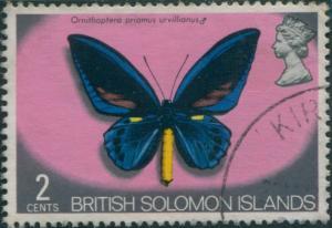 Solomon Islands 1972 SG220 2c Butterfly FU