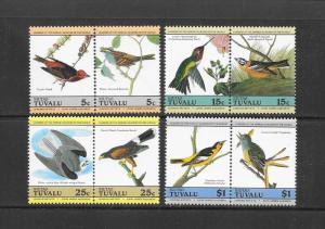 BIRDS - TUVALU-NIUTAO #25-28  AUDUBON  MNH