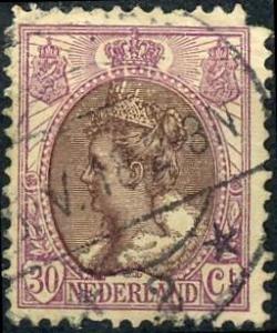 Netherlands #78 30c Queen Wilhelmina Used/H