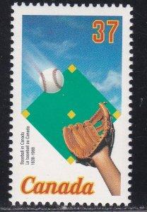 Canada # 1221, Canada's First Baseball Game, NH, 1/2 Cat.