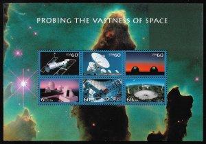 MALACK 3409 60c Probing Space Souvenir Sheet, VF min..MORE.. stock3409
