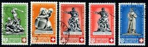 Switzerland B100-4 used Pro Patria 1940 Bundesfeier (002264)