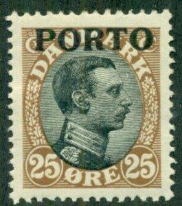 DENMARK #J6, Mint Hinged, Scott $30.00