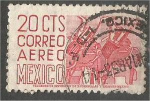 MEXICO, 1950, used 20c, Definitive Scott C188