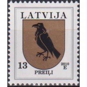 Latvia 2010 Coats of arms of Latvia - Prely  (MNH)  - Birds, Coats of arms