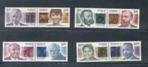 Norway Sc 1308-15 2001 Nobel Prize stamp set mint NH