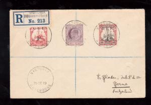 Cameroun Michel #13 #22a Used With Lagos Stamp Registered On Cover To Berne
