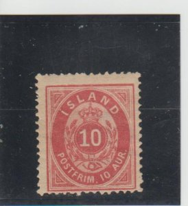 Iceland  Scott#  11  MH  (1876 Numeral)