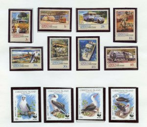 CHRISTMAS ISLAND SELECTION OF 1987//91  INCLUDES #274d & 274e  ISSUES  MINT NH-