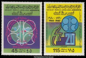 Libya Scott 867-868 Mint never hinged.