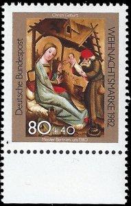 Germany FRG 1982 Sc B604 MNH Christmas semi postal