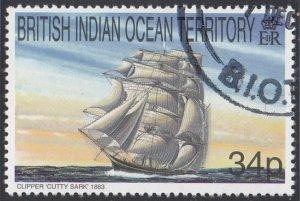BIOT 1999 used Sc #211 34p Cutty Sark Sailing Ships