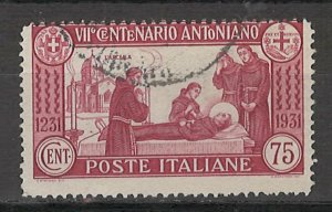 COLLECTION LOT # 5412 ITALY #263 1931 CV+$16