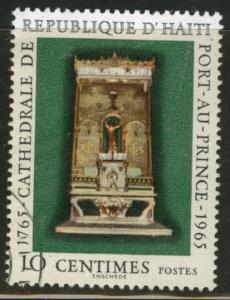 Haiti  Scott 530 Used 1965 High Altar stamp CTO