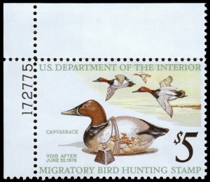 United States Duck Hunting Scott RW42 Margin Copy (1975) Mint NH VF W