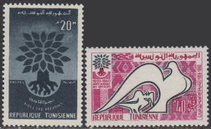 Tunisia 366-7 MNH - Refugee Year