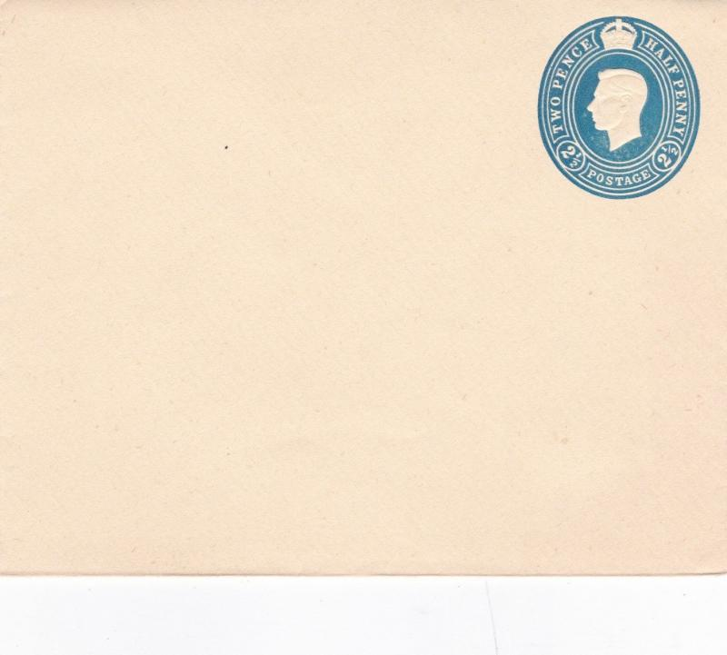 King George V1 2 1/2d prepaid Envelope VGC