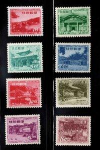 Ryukyu Islands (Okinawa) Scott 19-26  Mint Never Hinged gum MNH**, complete set