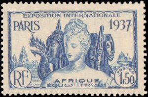 French Equatorial Africa #27-32, Complete Set(6), 1937, Expositions, Hinged