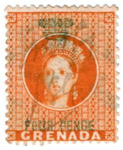 (I.B) Grenada Revenue : Duty Stamp 4d