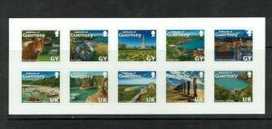 Guernsey: 2014 'Love the Bailiwick' self-adhesive sheetlet,   MNH set