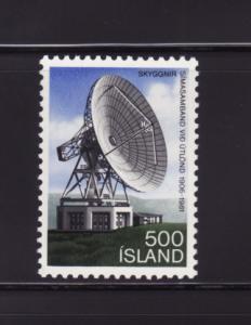 Iceland 547 Set MNH Skyggnir Earth Satellite Station
