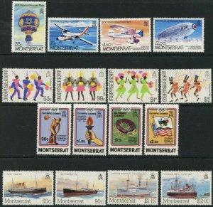 MONTSERRAT Sc#503-506, 516-523, 539-542 1983-1984 Four Complete Sets Mint OG LH