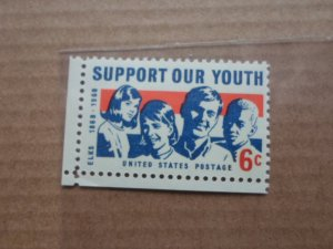 6 CENT STAMP SUPPORT OUR YOUTH SC # 1342