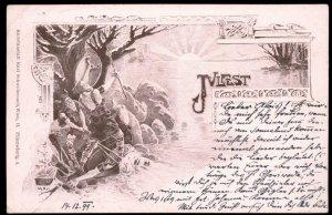 Austria 1899 German Unity Julfest Pagan Patriotic Cover Stamp USED 97506