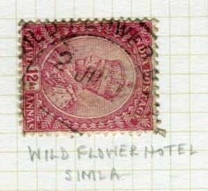 INDIA; POSTMARK fine used cancel on GV issue, Wild Flower Hotel Simla
