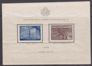 Latvia - 1938 Reconstruction Fund Souv. Sheet - #B96 Mint