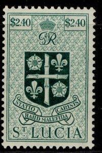 ST. LUCIA GVI SG158, $2.40 blue-green, M MINT.