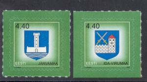 Estonia Sc506-7 2005 Arms stamps NH