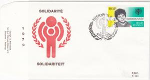 Belgium F.D.C stamps cover 1979 Inter. Anniv. of Children Solidarity ref R 16266