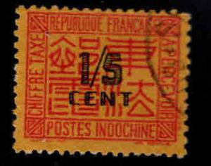 French Indo-China Scott J57 Used postage due stamp