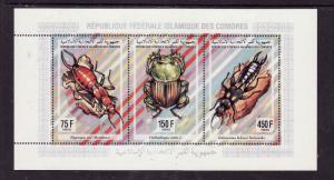 Comoro-Sc#812J- unused NH sheet-Insects-Beetles-1994-