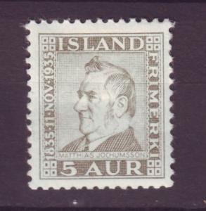 J12546 JLstamps 1935 iceland mhr #196 king
