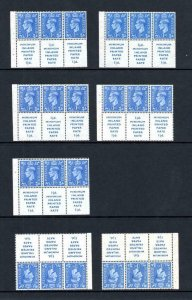 ACCUMULATION OF GEORGE VI 1d + LABELS BOOKLET PANES