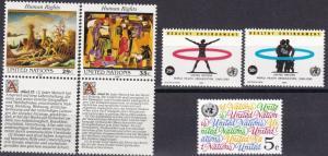 United Nations #624-8 MNH CV $2.50  (A18863)