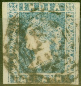 Malacca 1854 1/2a Blue of India SGZ1 Type A Cancel Fine Used Rare
