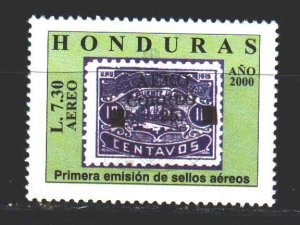 Honduras. 2000. 1557 from the series. Stamps on stamps. MNH.