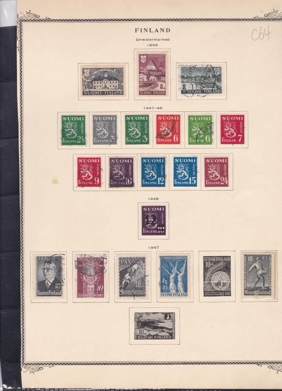 finland 1946-48 stamps page ref 18078
