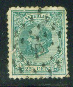 Netherlands Scott 29 William III 22.5c Green CV$42.50