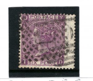 GB Used Abroad 6d Plate 9 SG.109 ITALY & British Numeral {samwells} 1206