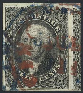 17, Used WITH RED & BLUE CANCELS - SUPERB JUMBO GEM PFC - SUNC