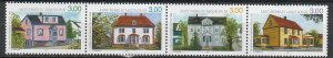 1998 St. Pierre and Miquelon - Sc 666 - MNH VF - 1 strip of 4 - Houses