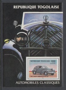 Togo 1257 Car Souvenir Sheet MNH VF