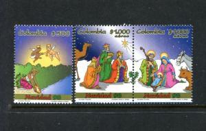 Colombia 1147-1148, MNH, Christmas 1998. x23446