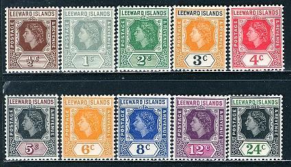 Leeward Islands; 1954: Sc. # 133-142; **/MNH Short Set